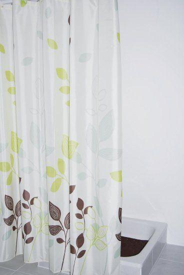 Ridder 403090 Duschvorhang Textil 180 X 200 Cm Gerlinde Amazon De