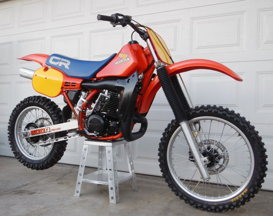 1984 honda 500 cr nice clean example bike dirt. Black Bedroom Furniture Sets. Home Design Ideas