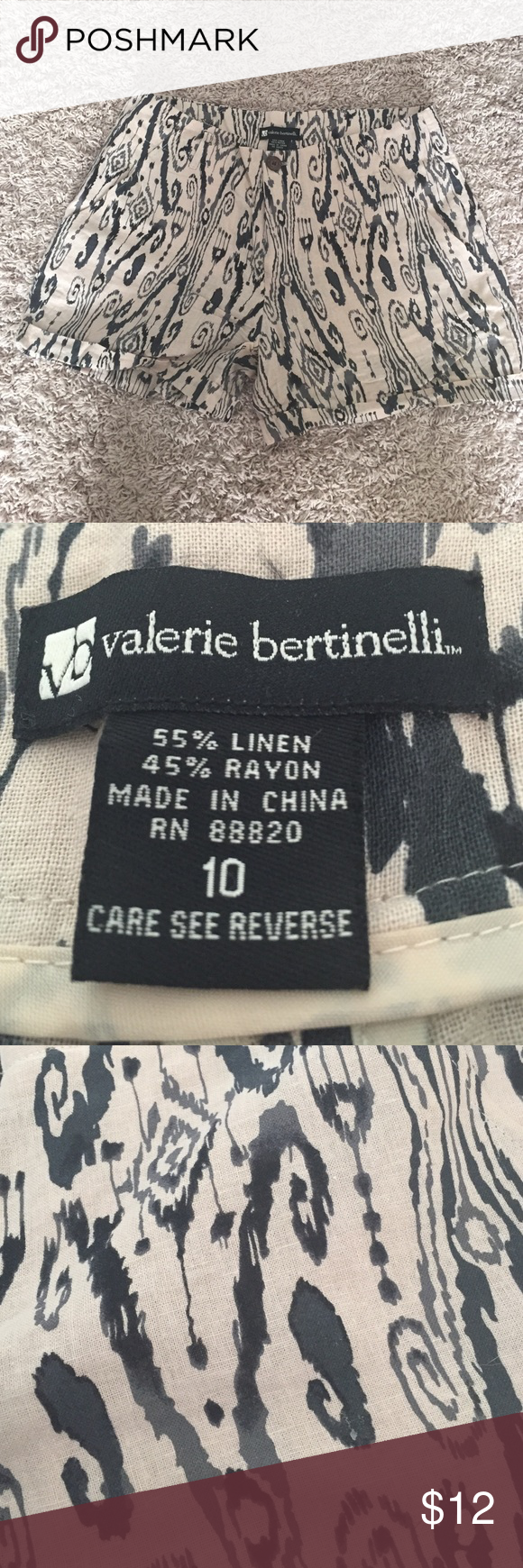 Size 10 patterned shorts Valerie Bertinelli ate teens shorts. Size 10. Valerie Bertinelli Shorts
