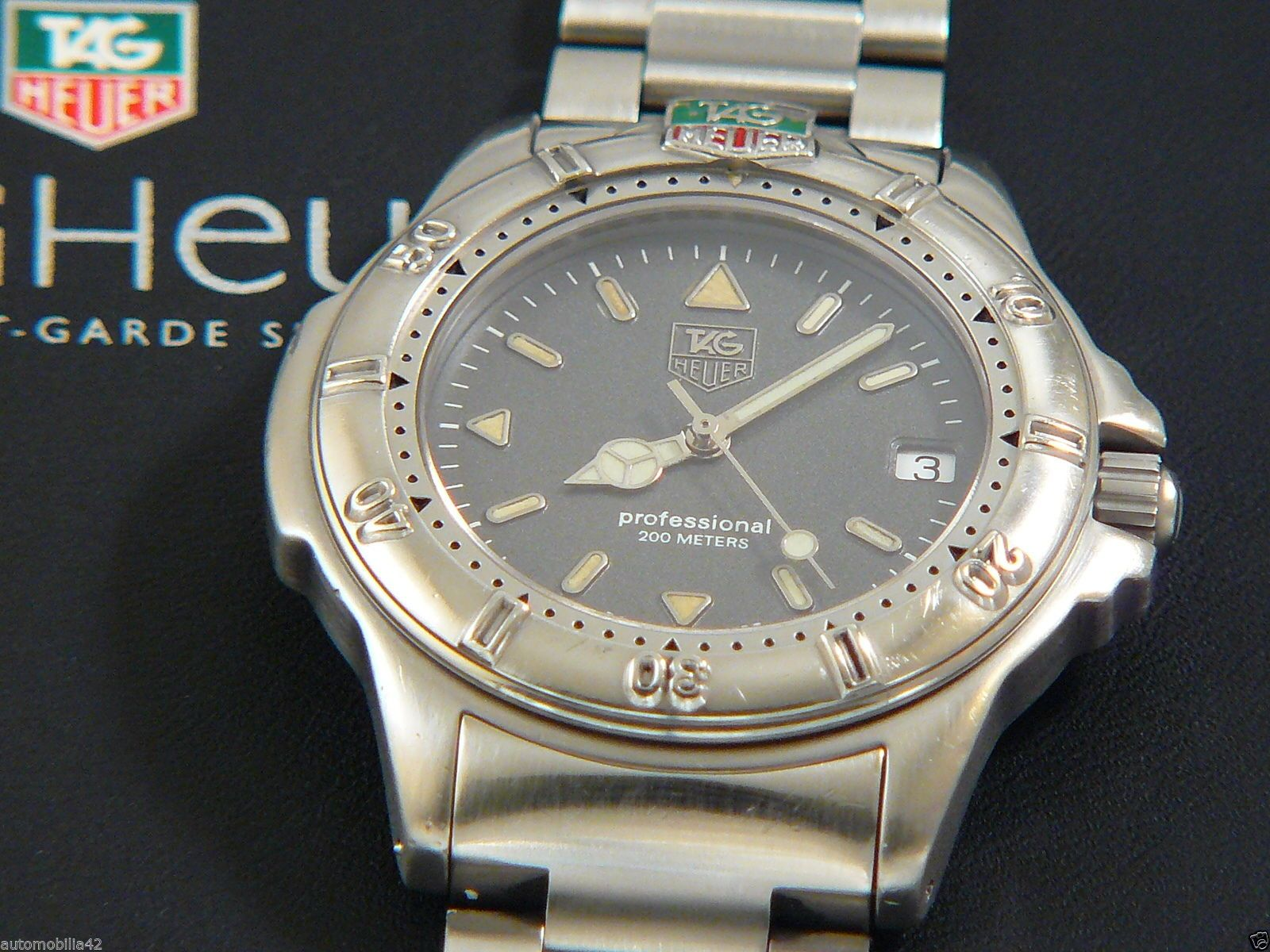TAG Heuer 4000 Full size Man Stainless steel watch with a ...