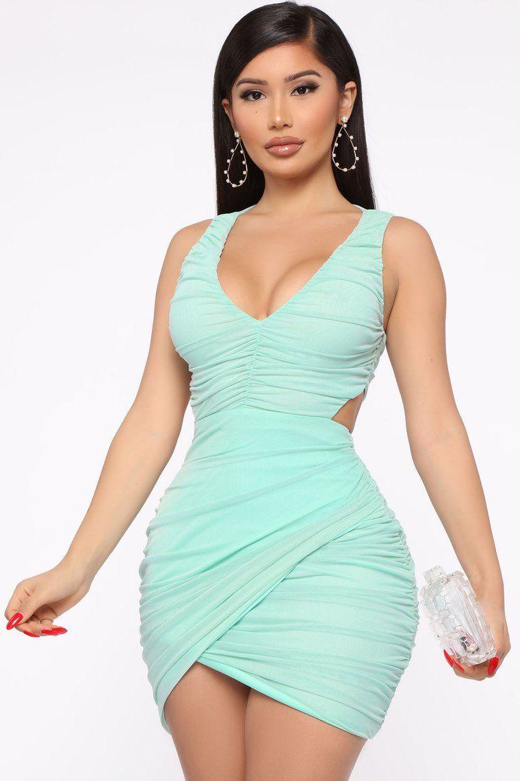 You Re Too Late Ruched Mini Dress Mint In 2020 Fashion Nova Outfits Mini Dress Fashion