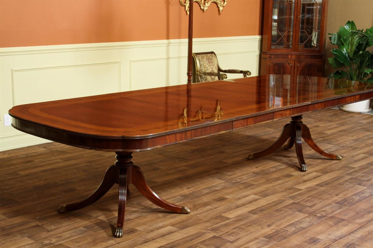 Large Dining Tables To Seat 12 Double Pedestal Dining Table 54 Quot Wide Designer Dining