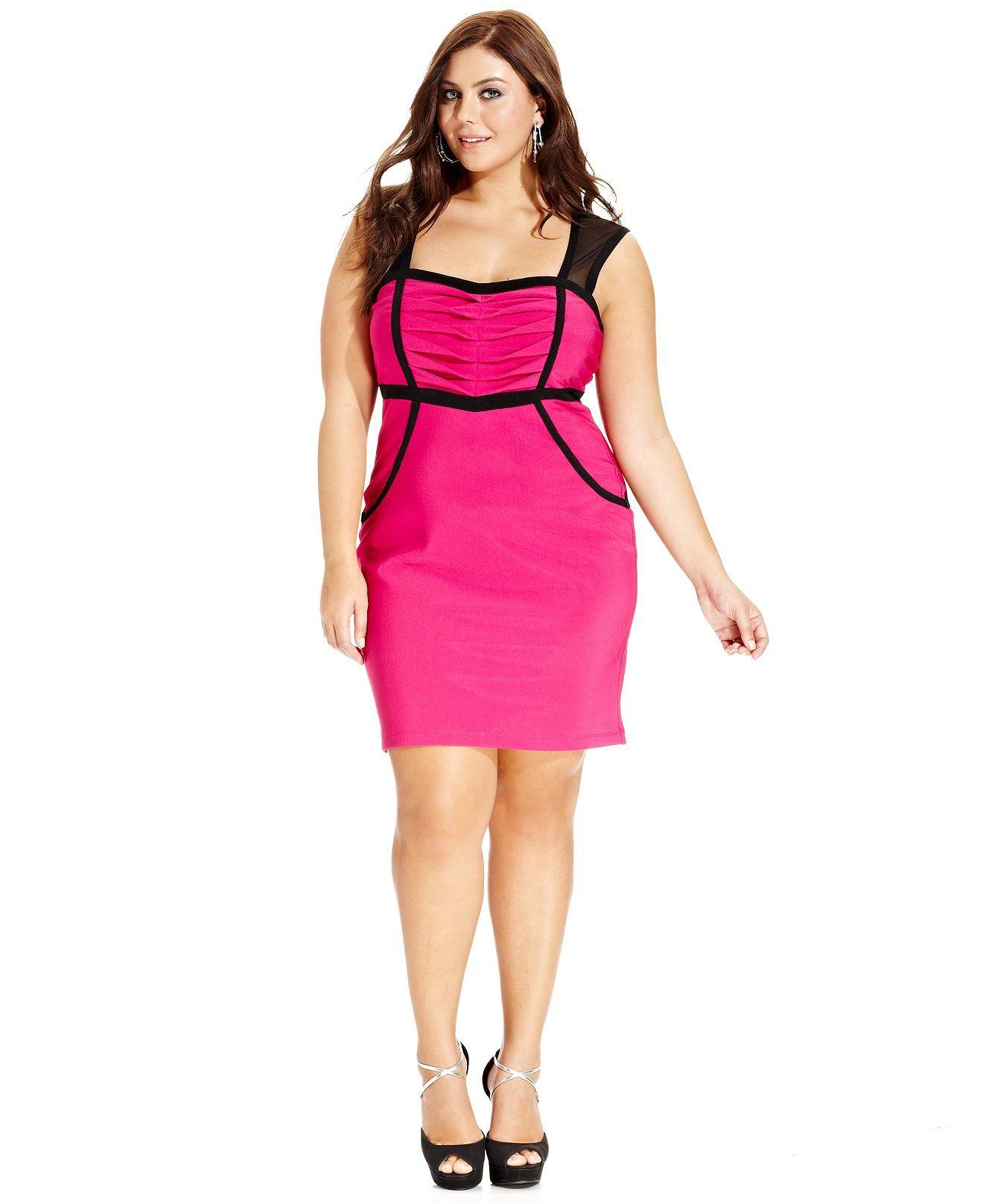 Ruby Rox Plus Size Dress, Sleeveless Cutout-Back Bodycon - Plus Size ...