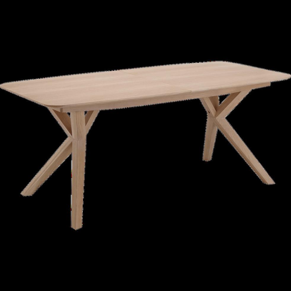 Table De Repas Extensible Plaquee Chene 8 A 10 Places Leonie Table Extensible En 2020 Table Repas Table Extensible Table