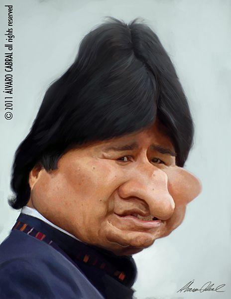 Resultado de imagen para Caricaturas de Evo Morales