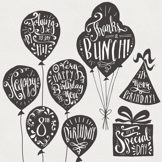 Cumpleaños y felicitación superposiciones / mano por thePENandBRUSH
