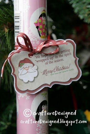 I was thinking of something like this for when someone does a toy drive or something similar.....They must need paper too!  But this might be a cute client gift too.