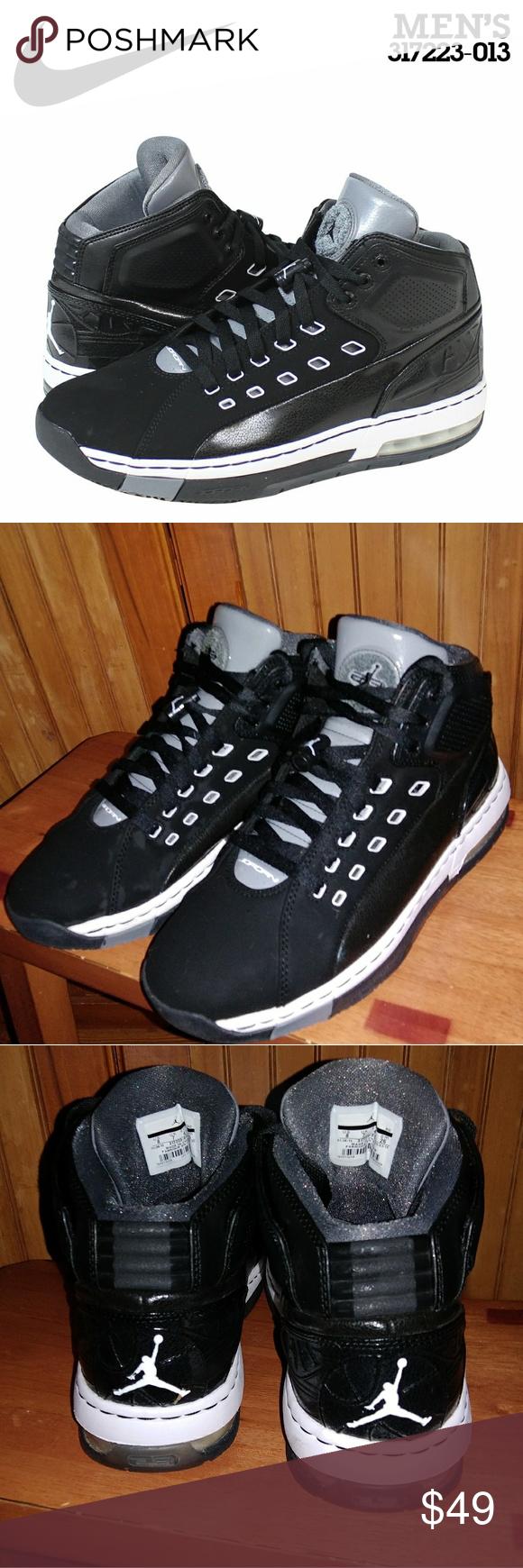 best website d3759 49c5b Air Jordan OL School NIKE JORDAN OL  SCHOOL BASKETBALL SHOES BLACK WHITE  COOL GREY 317223 013 MINIMAL WEAR Air Jordan Shoes Sneakers
