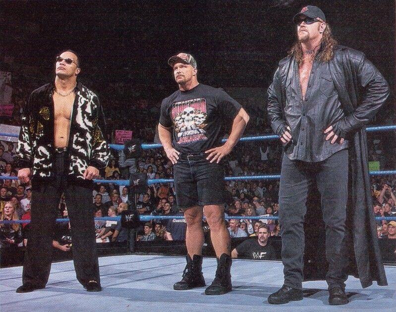 WWE Attitude Era The Rock, Stone Cold Steve Austin and the Undertaker | Steve austin, Wrestling superstars, Wwf superstars