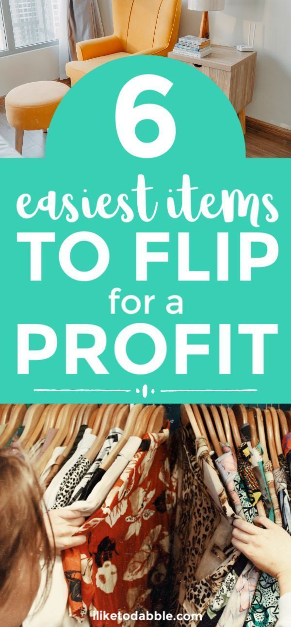 Thrift Store Flipping: 6 Easiest Items to Flip for a Profit #thriftstoreupcycle