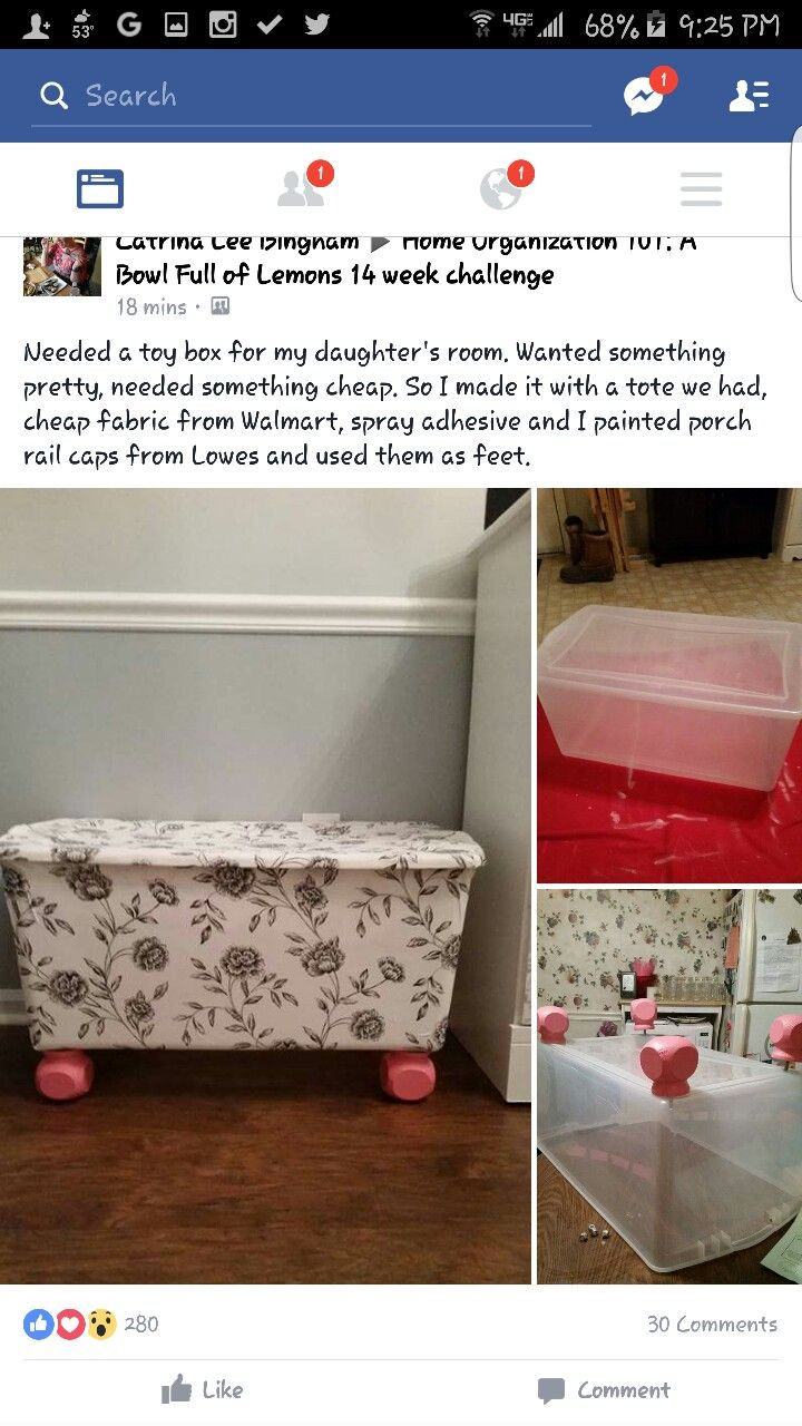 Genius DIY Fabric Covered Rubbermaid Bin For Toy Storage. Love This Idea As  Our Wooden Toy Box Has Been Scribbled On And Broken Many Times!