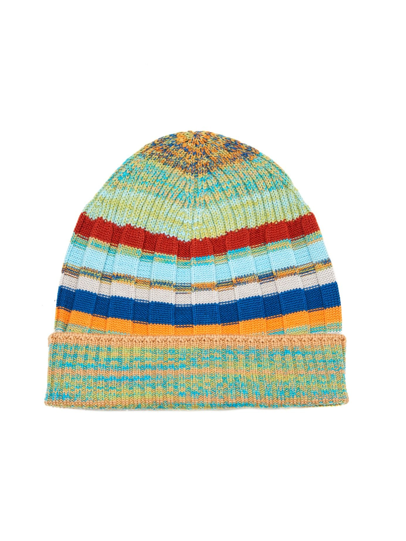 ce54cd17d5c Striped ribbed-knit beanie hat