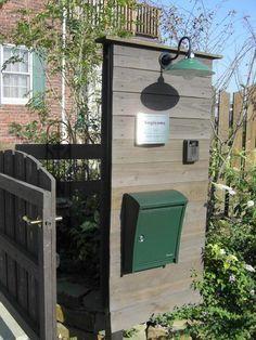 ポスト 木製門柱 壁タイプ アプローチ 門柱 ポスト K S Garden