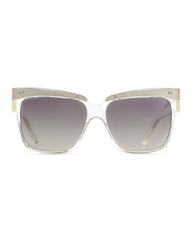 Marc by Marc Jacobs Transparent Plastic Square Sunglasses, Clear ...