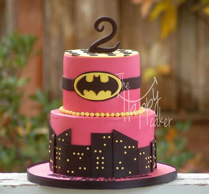 Batgirl Cake With Images Batgirl Party