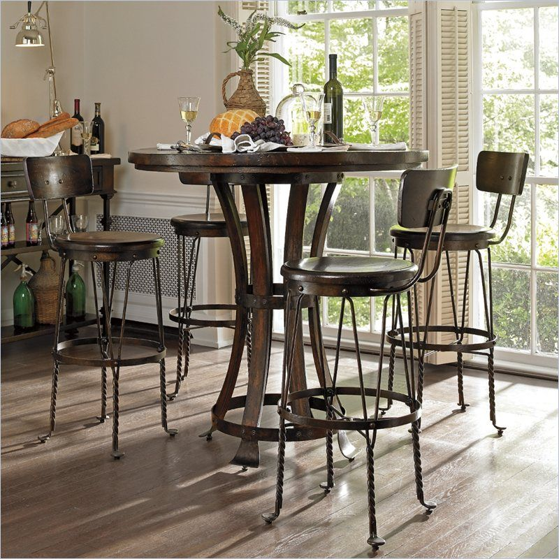 Stanley Furniture European Farmhouse 5 Piece Pub Set - 018 ...