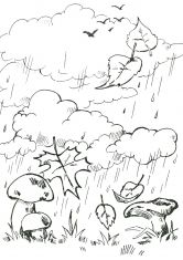 Раскраска Грибы под дождем | Art, Coloring books, Coloring ...