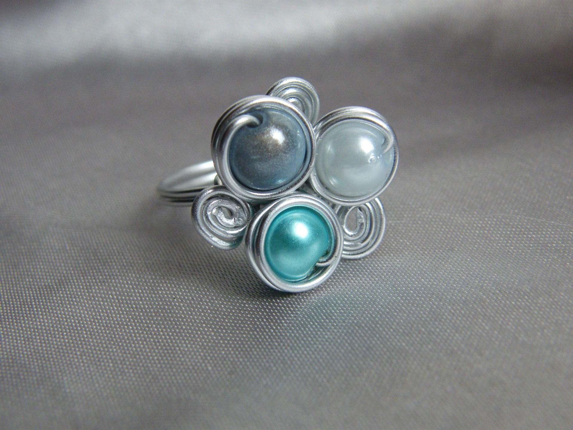 bijoux fil aluminium recherche google bijoux pinterest bagues bijou et fil. Black Bedroom Furniture Sets. Home Design Ideas