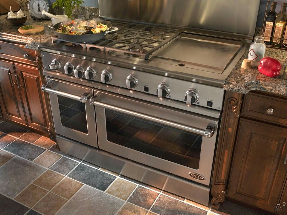 Love this stove top with griddle  My dream home in 2019