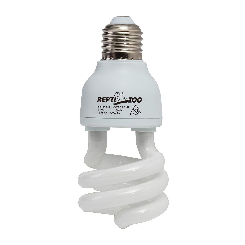 Reptizoo Energy Saving Lamps Uvb Bulb Spiral Compact 15 Watts 26 Watts Uvb 5 0 Reptile Light Bulb Fit For Rainfor Reptile Lights Energy Saving Lamp Save Energy