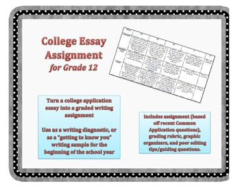 College Essay Assignment  Rubric  Writing Assignments College