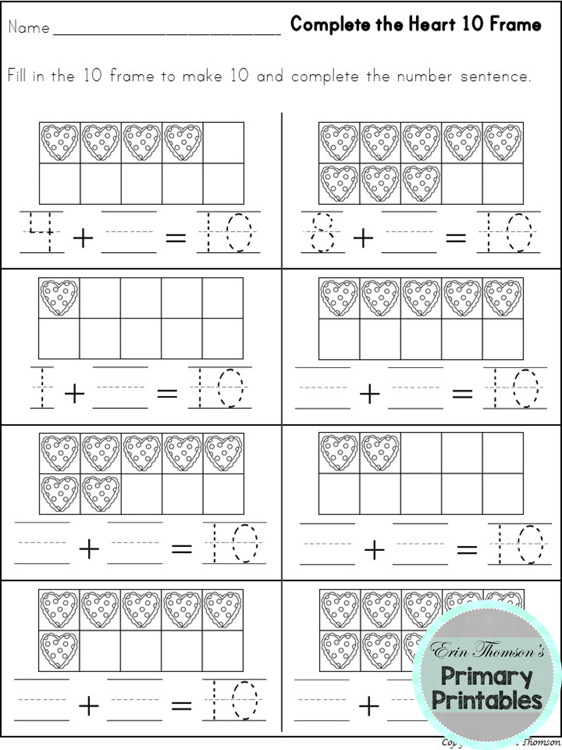 Valentines Day Phonics Worksheet For Kindergarten