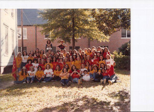 Chi O Bid Day 1979  at Mercer!