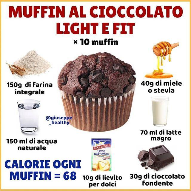 """Giuseppe Healthy on Instagram: """"SALVA LA RICETTA 👆👆 . 👉 Per voi una ricetta molto golosa ma anche leggera e facile da preparare ! I MUFFIN AL CIOCCOLATO LIGHT E FIT 🍫 ,…"""""""