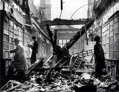 London, Holland House Library bombed, 1940