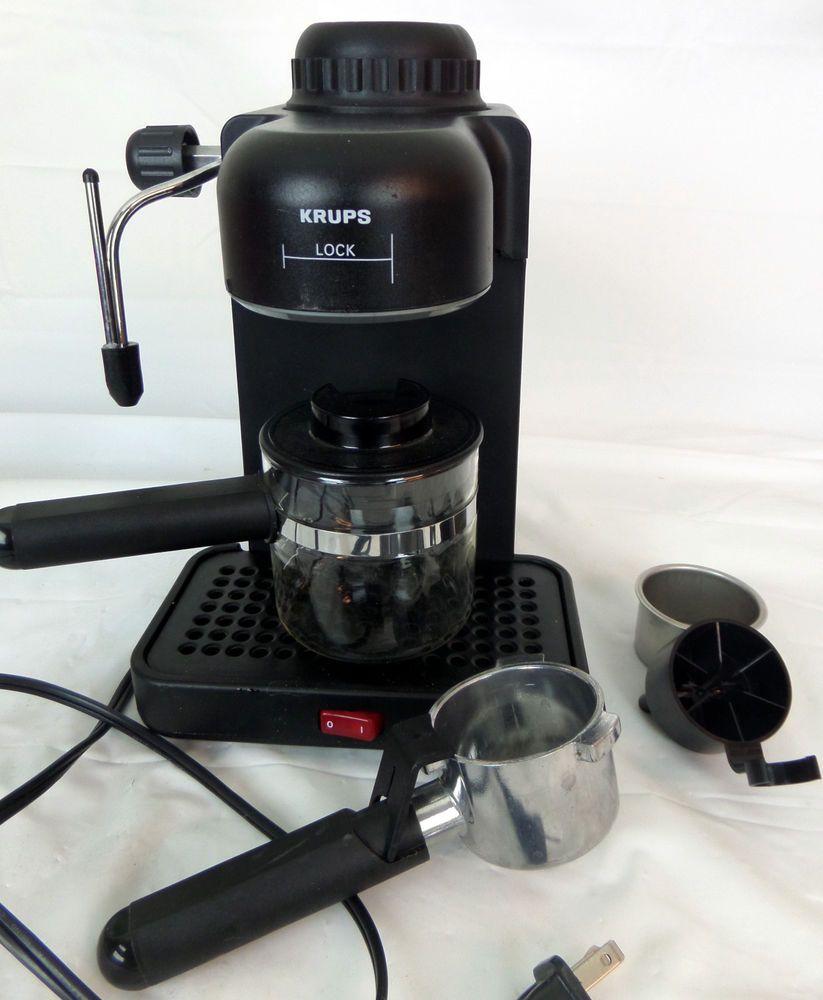 Krups Espresso Mini Latte Cappuccino Machine Perfect Froth 963 A Black Cappuccino Machine Coffee Type Cappuccino