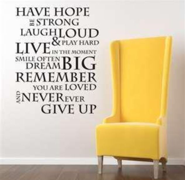 Have Hope Be Strong Laugh Loud And Play Hard Live In The Moment - How do you put up wall art stickers