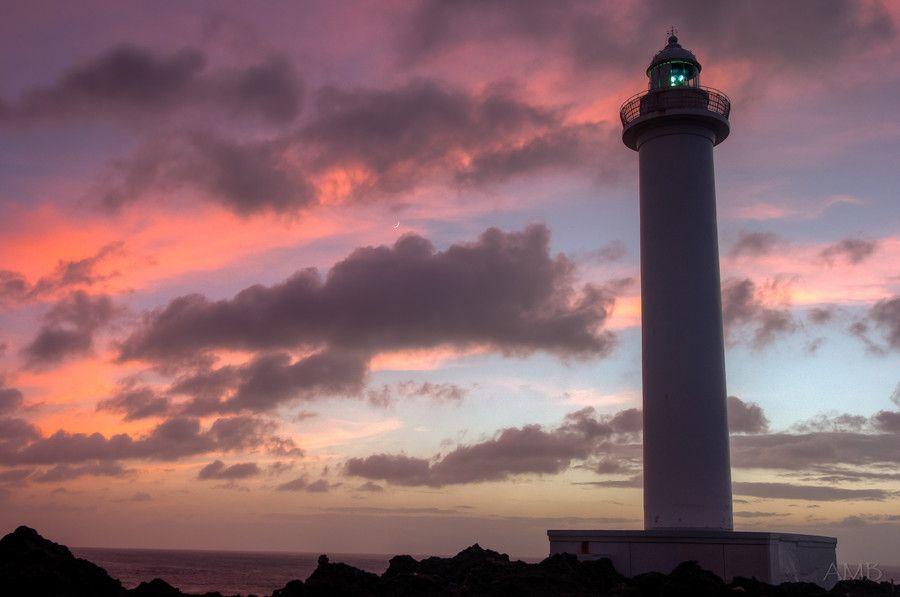 Cape Zanpa, Okinawa Lighthouse at Sunset by Aaron Botnick on 500px
