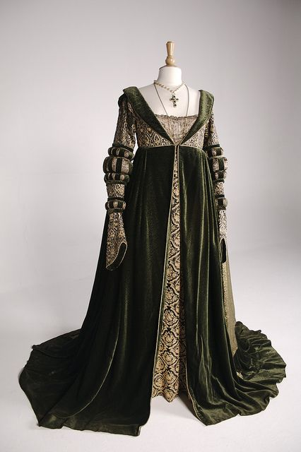 "Angelica Huston's costume as the Baroness Rodmilla De Ghent in ""Ever After"" (1998), 16th Century costume design by Jenny Beavan."