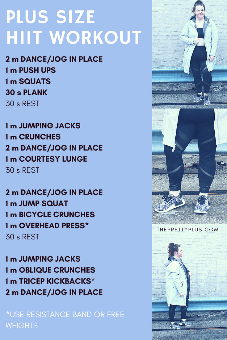 Photo of 2018 FITNESS GOALS & PLUS SIZE HIIT WORKOUT – The Pretty Plus