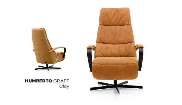 Leren Relaxstoel Van Prominent.Prominent Relaxstoel Humberto Tan Clay Home Chair Lounge En