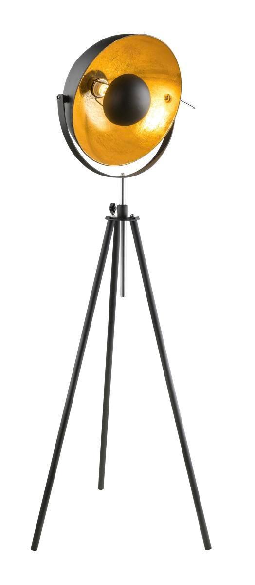 Stehleuchte 3 Bein Hohenverstellbar Schwarz Goldfarbig Online Bei Poco Kaufen Lampen Und Leuchten Standleuchte Wofi Leuchten