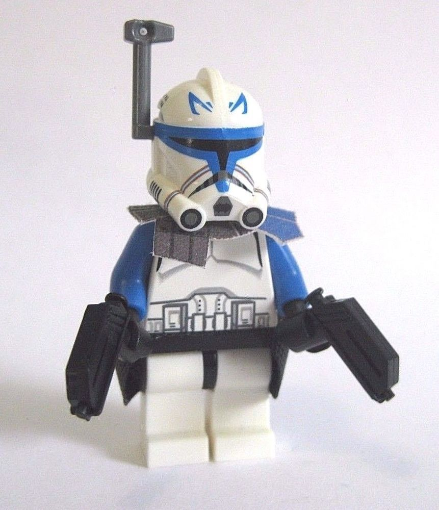 Lego Custom Captain Rex Phase 2 Minifigure Custom Helmet Pistols