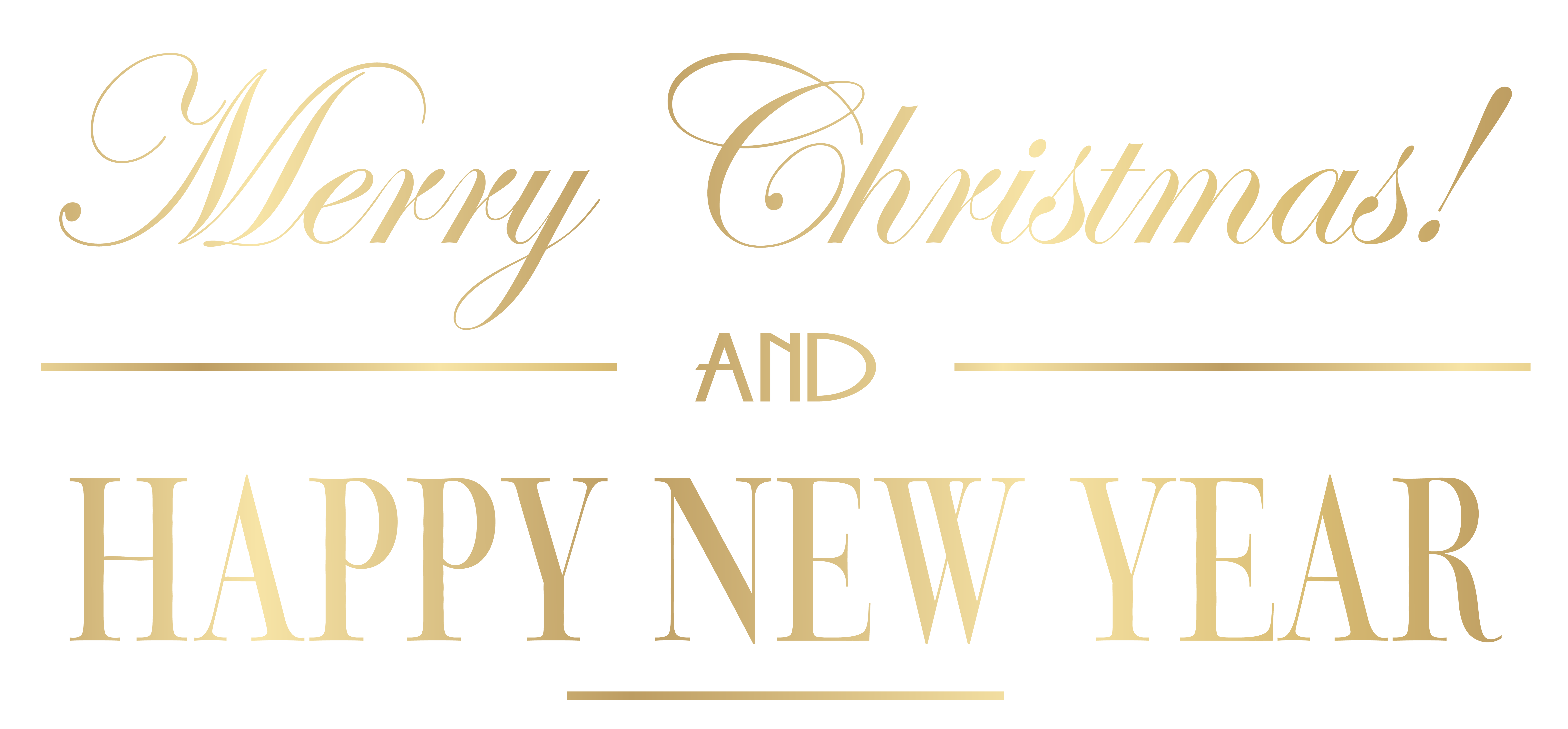 Merry Christmas and Happy New Year PNG Clip Art Image