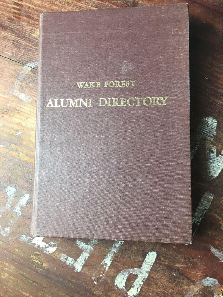 Alumni Directory Wake Forest University Winston Salem North Carolina 1961 Ebay Wake Forest University Salem North Carolina Wake Forest