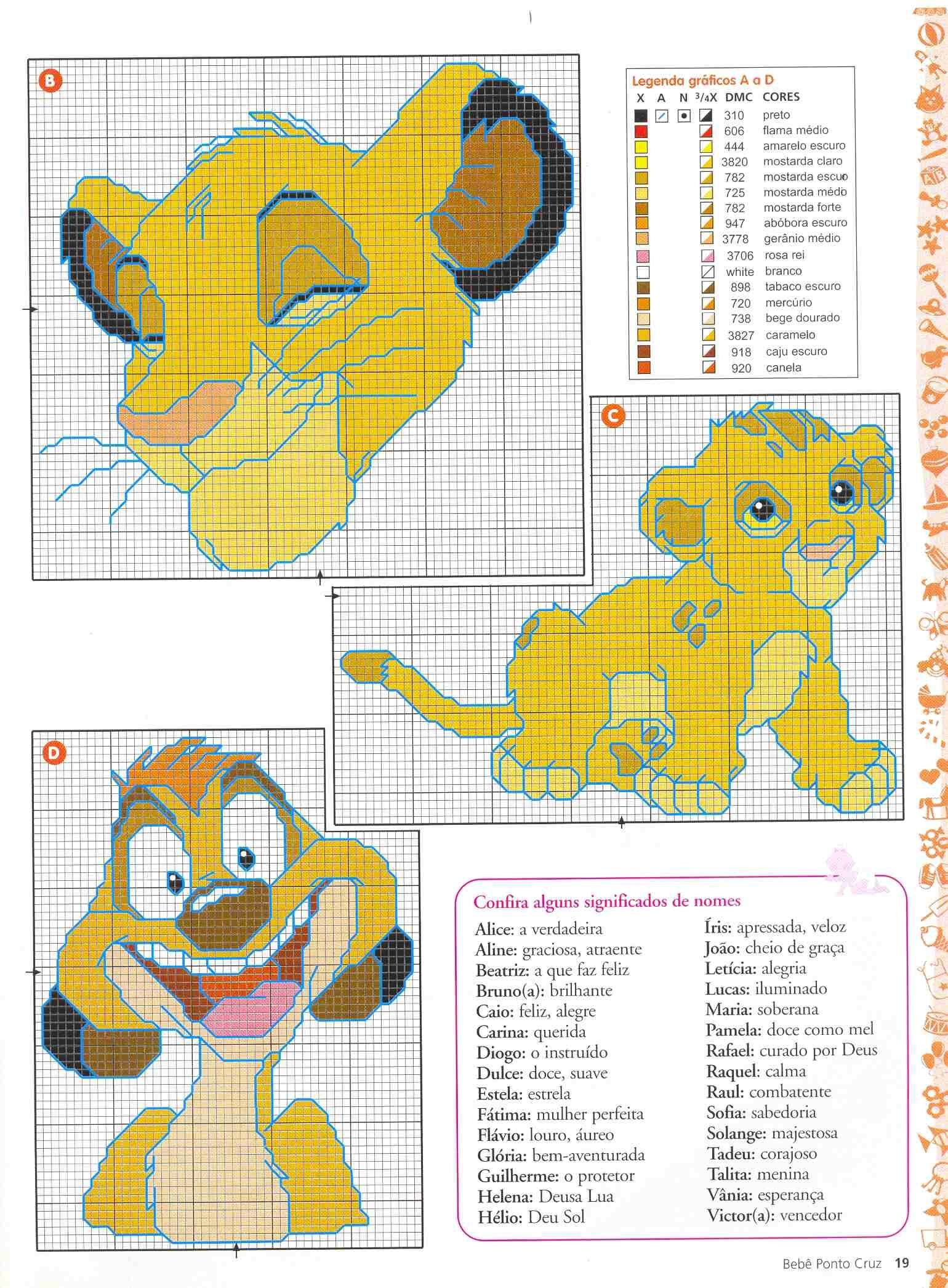 Simba and Timon from Lion King | Cross stitch | Pinterest | Cross ...