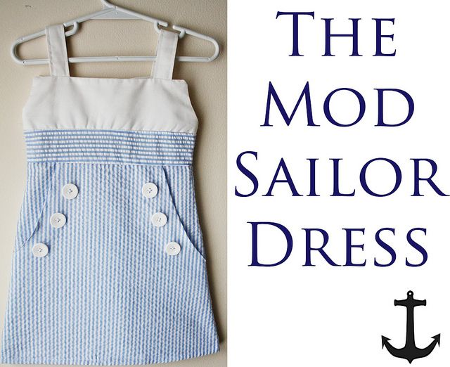 The Mod Sailor Dress Tutorial | Nähen | Pinterest | Nähen, Kleidung ...