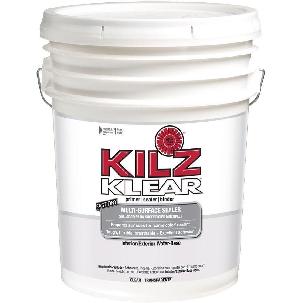Kilz Klear 5 Gal Interior Exterior Multi Surface Primer And Sealer L220105 The Home Depot Kilz Primer Sealer Interior Primer