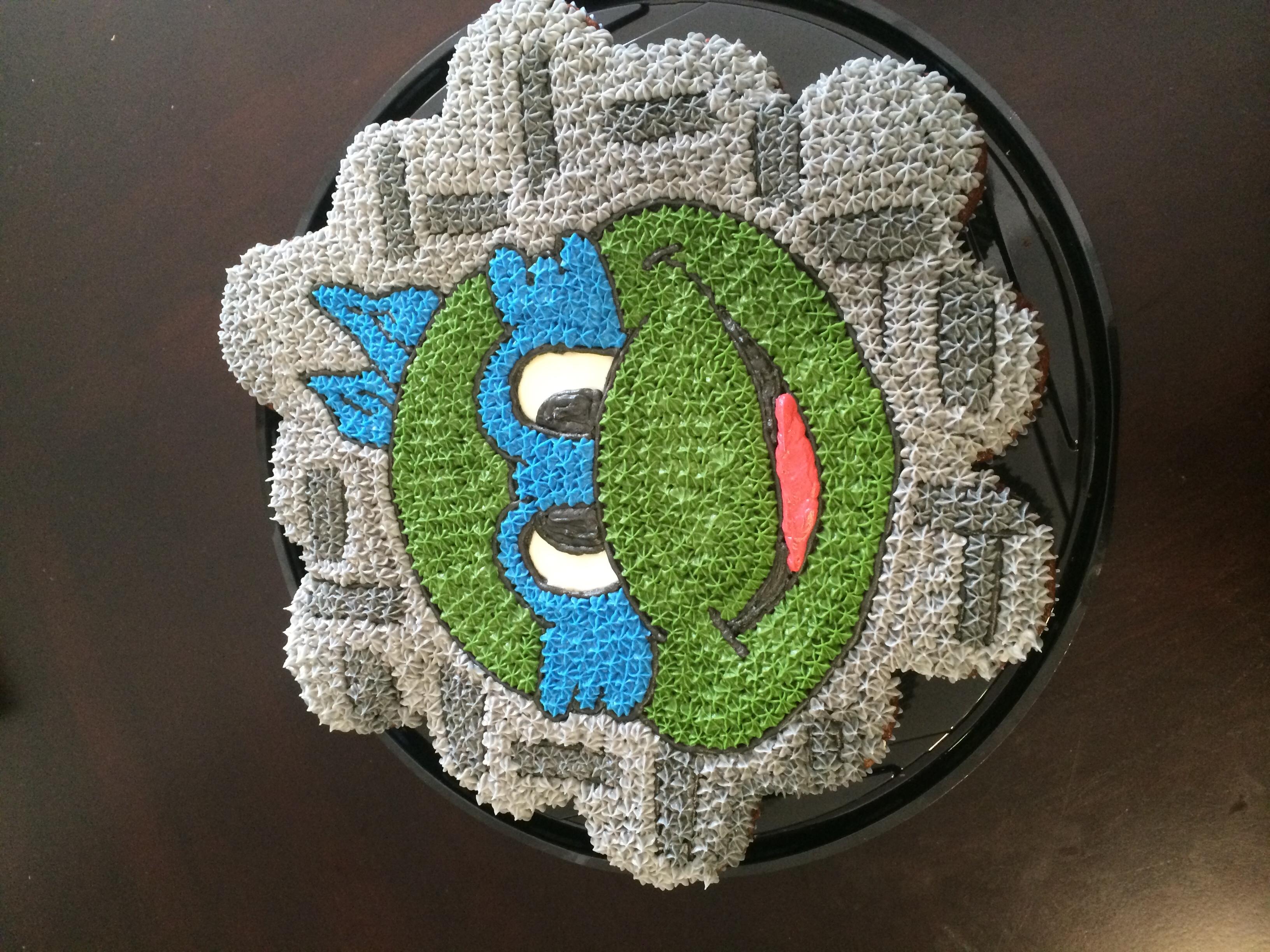 Ninja turtle cupcake cake #cake #sweet