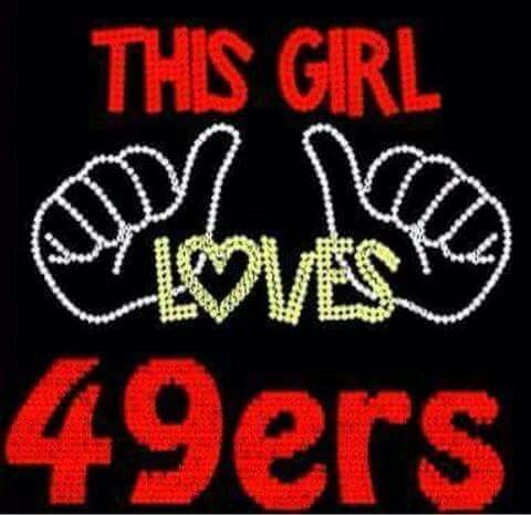 This girl loves 49ers