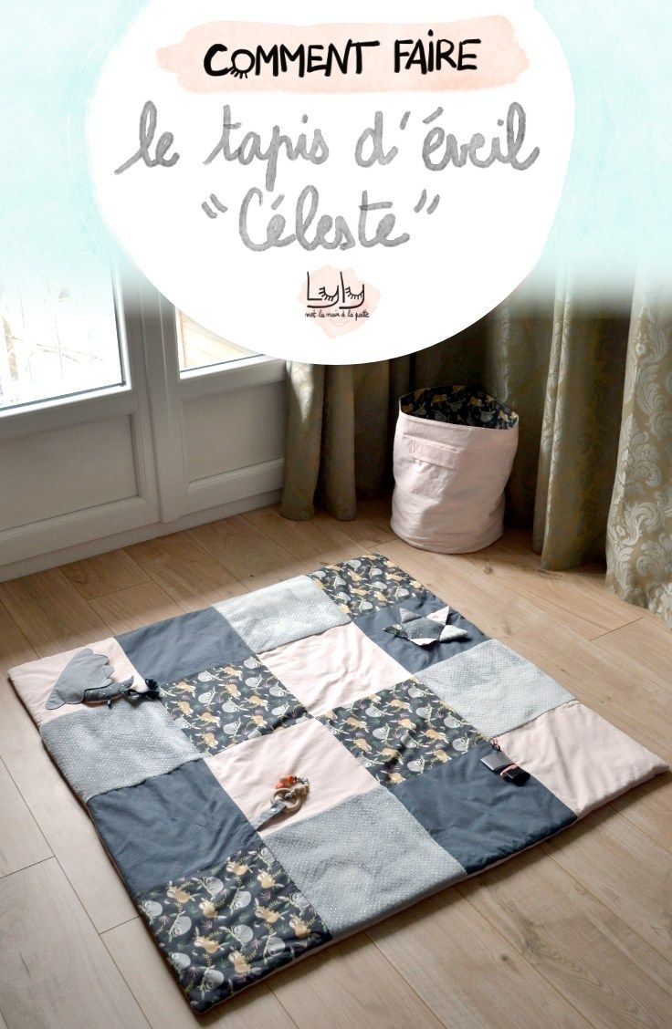 Coudre le tapis d'éveil Céleste - Lyly met la main la patte - tutoriels gratuits
