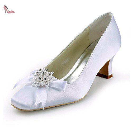 Minitoo , Damen Pumps, weiß - White-6.5cm Heel - Größe: 38