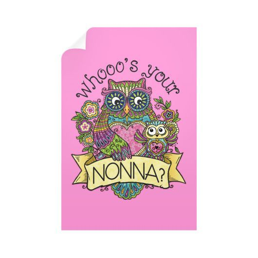 """""""Whooo's Your Nonna?"""" Wall Decals"""