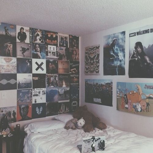 Wall Of Posters Since I Have A Lot Of Them Grunge Bedroom Rock Bedroom Rock Room