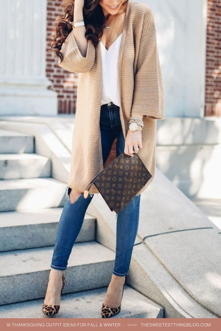 16 Thanksgiving Outfit Ideas For Fall OR Winter Weather + Louis Vuitton Wallet Giveaway #thanksgivingoutfit