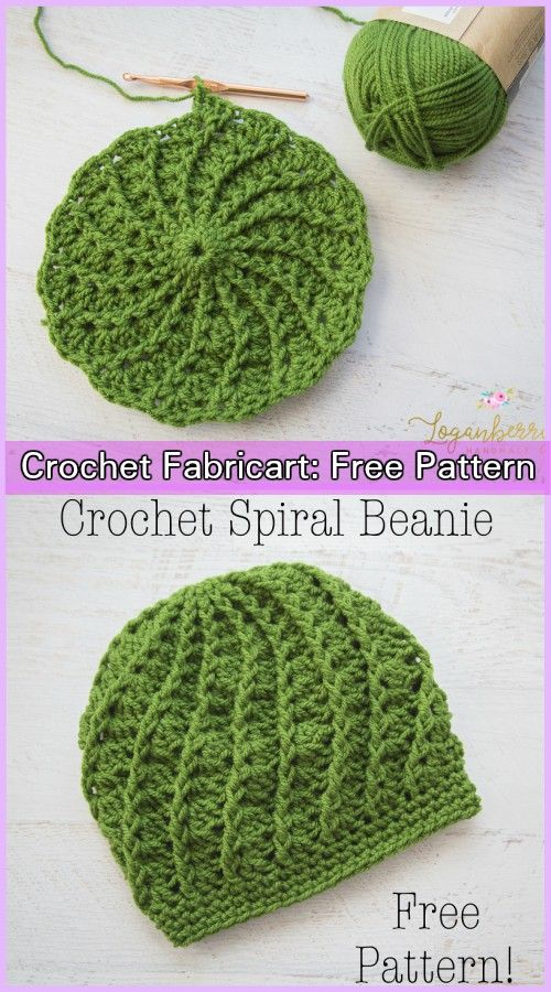 Crochet Twist Top Beanie Hat Pattern